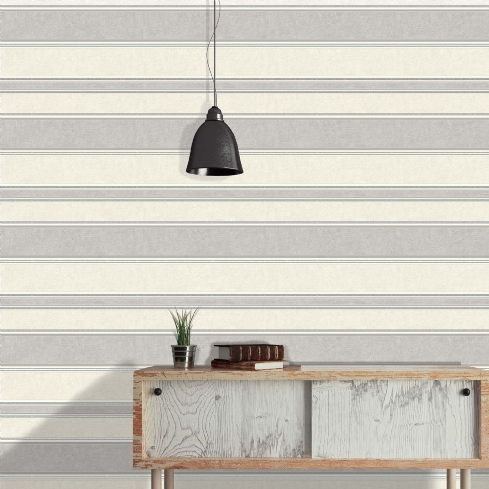 Crown Mallory Stripe Grey M0916 Wallpaper